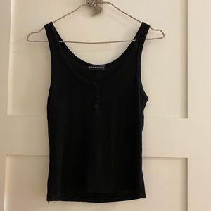 Brandy Melville black button tank top